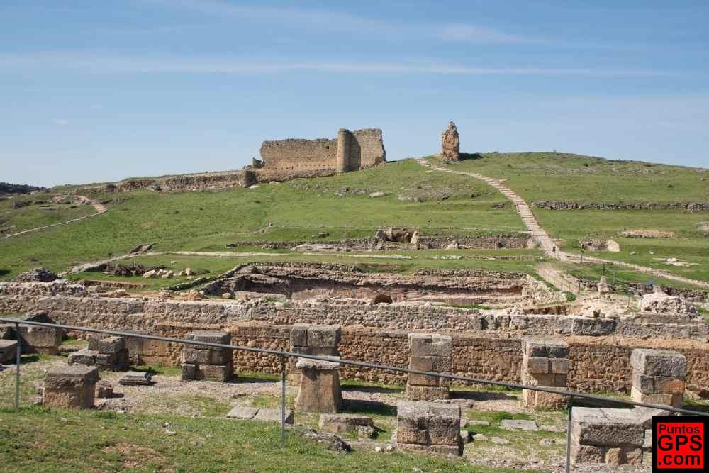Ruinas de la ciudad romana de Valeria en la provincia de Cuenca